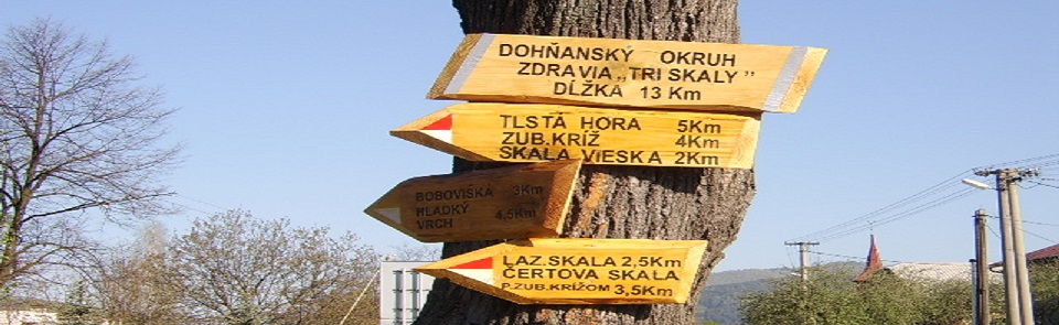 """We invite you for a walk on tourist path """"Three rocks"""", that is situated in surrounding of village Dohňany in range of Biele Karpaty."""